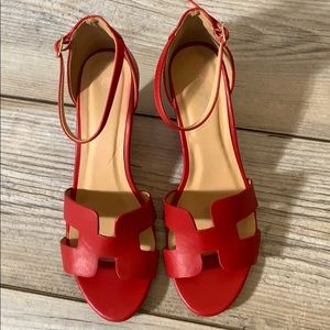 Forever red wedges sz 10